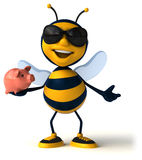 Fun bee Royalty Free Stock Photos