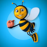 Fun bee Royalty Free Stock Photo