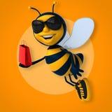 Fun bee Royalty Free Stock Image