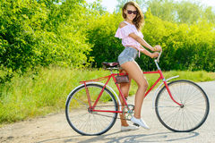 Fun on bicycle Royalty Free Stock Photography
