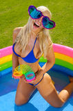 Fun bikini girl Stock Photos