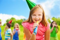 Fun at birthday Stock Images