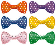Fun bow ties. A set of polka dot bow ties Stock Image