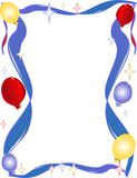 Fun, bright, balloon,star and ribbon background Stock Image