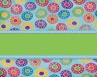 Fun Bright Circles Background Stock Image