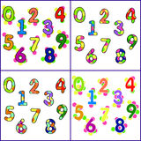 Fun bright, the colorful numbers Stock Photos