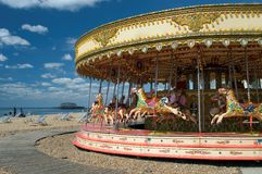 Fun on Brighton Beach. Having fun on Brighton Beach, England Royalty Free Stock Images