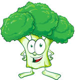 Fun  broccoli cartoon Royalty Free Stock Images