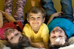 Fun Brothers and Sister royalty free stock images