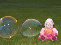 Fun with Bubbles Royalty Free Stock Photos