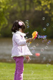 Fun with bubbles Stock Photos
