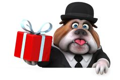 Fun bulldog - 3D Illustration Stock Photo