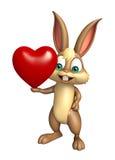 Fun Bunny cartoon character with heart Stock Photos