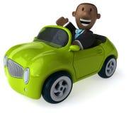 Fun business man - 3D Illustration Stock Photo