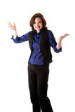 Fun business woman Royalty Free Stock Photography