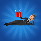 Fun businessman Stock Images