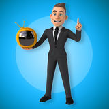 Fun businessman Royalty Free Stock Photo