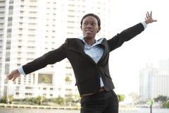 Fun businesswoman Stock Photography