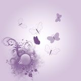 Fun butterfly. Nice purple background with many butterfly Stock Photo