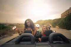 Fun in the cabrio Stock Photo