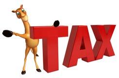 Fun Camel cartoon character  with tax Stock Photos