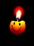 Fun candle as emoticon Stock Photography
