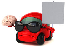 Fun car - 3D Illustration Stock Images