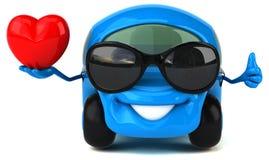 Fun car - 3D Illustration Stock Photos