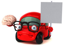 Fun car - 3D Illustration Stock Photography