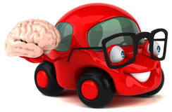 Fun car - 3D Illustration Royalty Free Stock Image