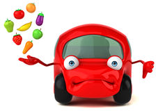 Fun car - 3D Illustration Royalty Free Stock Photo