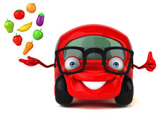 Fun car - 3D Illustration Stock Images