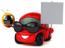 Fun car - 3D Illustration Royalty Free Stock Image
