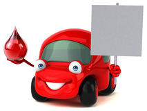 Fun car - 3D Illustration Royalty Free Stock Photography