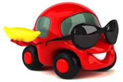 Fun car - 3D Illustration Stock Photo