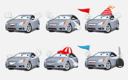 Fun Car Mascot Stock Photo