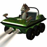 Fun Car with Toon Squirrel Royalty Free Stock Photo