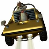 Fun Car with Toon Squirrel Royalty Free Stock Photography