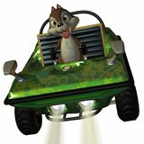 Fun Car with Toon Squirrel Royalty Free Stock Images