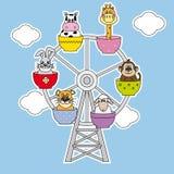 Fun card animals Royalty Free Stock Photos