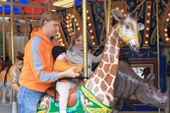 Fun On the Carousel Stock Photography