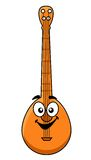 Fun cartoon banjo with a happy smiling face Stock Photo