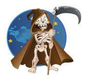 Fun cartoon death on a night sky background Stock Photo
