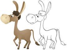 Fun cartoon donkey Royalty Free Stock Photos