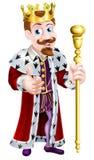 Fun Cartoon King Royalty Free Stock Photo
