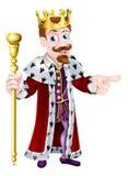 Fun Cartoon King Pointing Royalty Free Stock Photography