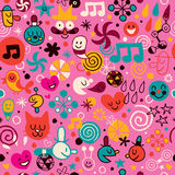 Fun cartoon pattern Stock Photos