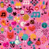 Fun cartoon pattern Stock Photos