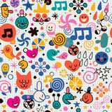 Fun cartoon pattern Stock Photography