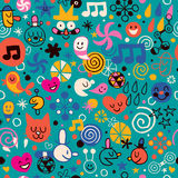 Fun cartoon pattern Stock Images